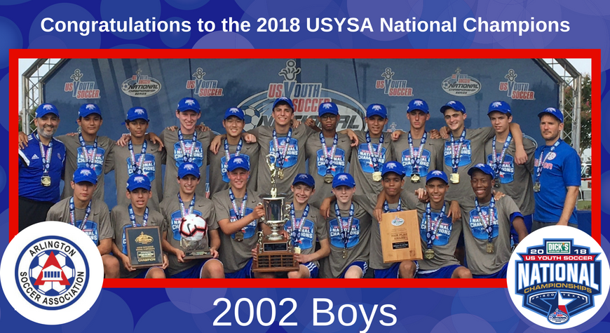 2002 Boys Win USYSA National Championship & Cap Most Successful Season in History of the Club